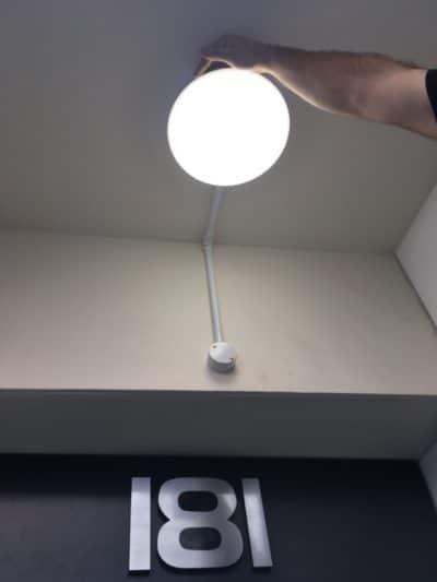Fitting of motion sensor and external light